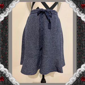 Loft Silver Thread Ruffle Skirt